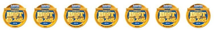Recognized with 2014 Industry Overall Best in Class Awards